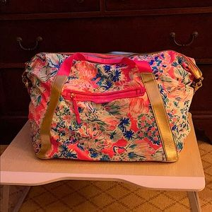 Lilly Pulitzer XL weekender carryon nylon duffle